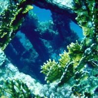 Blick durch ein Steuerbordbullauge ins Schiffsinnere, September 2002