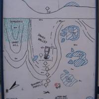Tauchplatzkarte des Bereiches der Sinai Divers, Mai 2007
