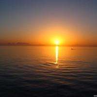Sonnenuntergang am Om Kuf Riff, März 2005
