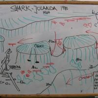 Tauchplatzkarte des Shark & Yolanda Reefs, Mai 2007