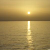 Abends auf der Fahrt zurück nach Hurghada, September 2002