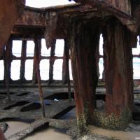 Blick durch\'s Wrack, September 2006