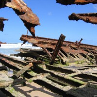 Richtung Heck ist die Zerstörung deutlicher, September 2006