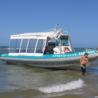 Das Tauchboot, die 'Yongala Express', September 2006