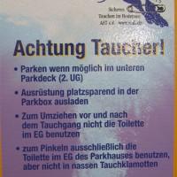 Die Parkhausordnung für Taucher, Mai 2005