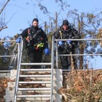Daniel und Alex oben an der Leiter, März 2006