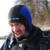 Thomas kann es kaum erwarten, ins Wasser zu springen, März 2006