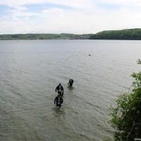 Gang zur Steilwandkante am Seezeichen 24, April 2002