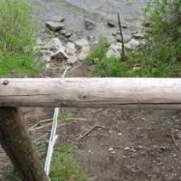 Abstieg zum Tauchplatz Seezeichen 24, April 2002