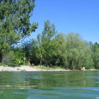 Blick vom Seezeichen zum Einstieg, Mai 2005