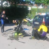 Schön war\'s - Manne, Holger und Joe beim abrödeln, Mai 2005