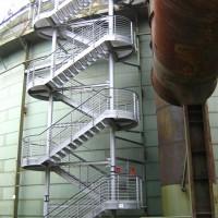 Treppenaufgang zum Tauchturm, Oktober 2005