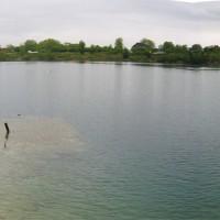 Panoramablick über den See, aufgenommen rechts von Einstieg 0, Mai 2005
