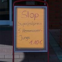 Was will uns Süddeutschen dieses Schild sagen?, Mai 2005