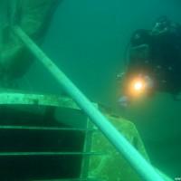 Die Kajüte des Segelbootes, April 2006