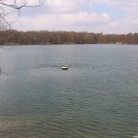 Die Boje einsam im See, März 2006