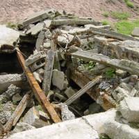 Die Ruine einer alten Mühle (2. Parkplatz), August 2002
