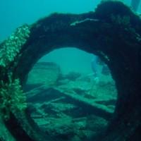 Reste des Kamins, August 2004