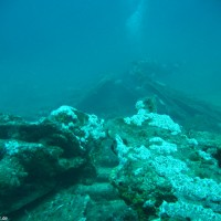 Blick vom Heck zum Bug über die eingefallenen Seitenwände, August 2006