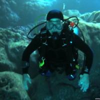 Martin in einer der Höhlen, April 2003