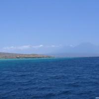 Blick von Menjangan Island Richtung Java, September 2007