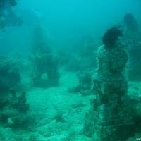 Die zweite Tempelanlage weiter oben im Riff, September 2007