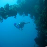 Im tieferen Wrackbereich am Bug, September 2007