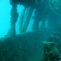 Einige Fischernetze haben sich am Wrack verfangen, September 2005
