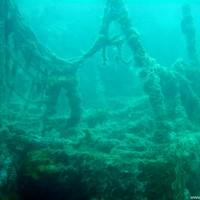 Die Reling mit Fischernetzen, Juli 2002