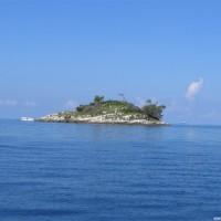 Die Banjole Insel vom Boot aus, September 2005