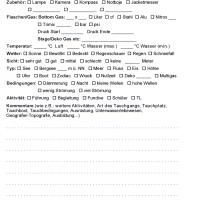 iQ Logbook M / sub-base Logbuch - 1 Tauchgang pro Seite v2