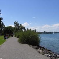 Die Uferpromenade links vom Einstieg, Juli 2007