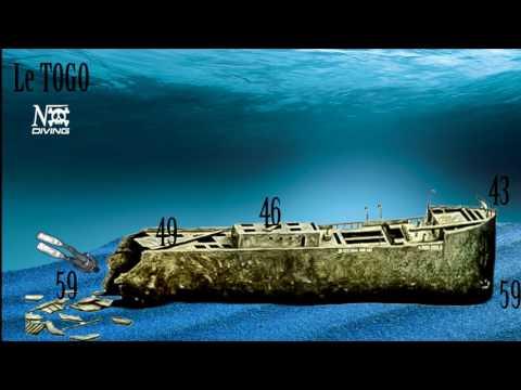 Freediving -60M Wreck TOGO acte 2